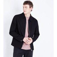 Men's Black Zip Through Shacket New Look