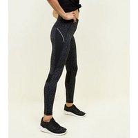 Grey Marl Panel Side Sports Leggings New Look