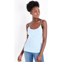 Pale Blue Shoestring Strap Cami New Look