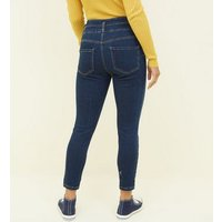 Petite Blue 26in High Waist Skinny Jeans New Look