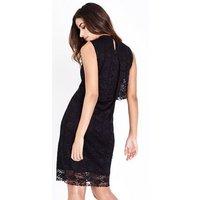 Mela Black Lace Overlay Dress New Look