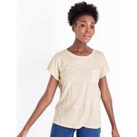 Cream Organic Cotton Pocket Front T-Shirt New Look