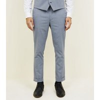 Grey Herringbone Skinny Cropped Suit Trousers New Look