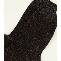 Multi Coloured Glitter Ankle Socks New Look