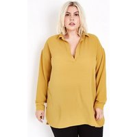 Curves Mustard Yellow Overhead Shirt New Look