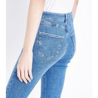Blue High Rise Super Skinny 'Lift & Shape' Jeans New Look