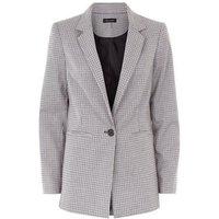 Grey Check Split Back Blazer New Look