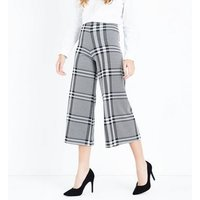 Innocence Black Wide Check Culottes New Look