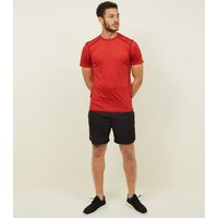 Red Stretch Short Sleeve Sports T-Shirt New Look