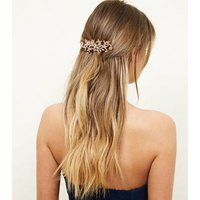 Rose Gold Jewel Embellished Hair Comb New Look