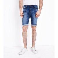 Blue Skinny Denim Shorts New Look