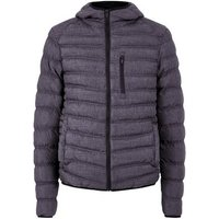 Dark Textured Puffer Jacket New Look
