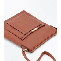 Tan Pocket Front Shoulder Bag New Look