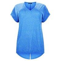 Curves Blue Split Back Oversized T-Shirt New Look