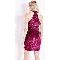 AX-Paris-Wrap-Front-Velvet-Dress-New-Look