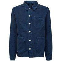 Blue Denim Worker Jacket New Look