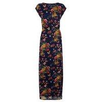 Mela Blue Floral Lace Maxi Dress New Look