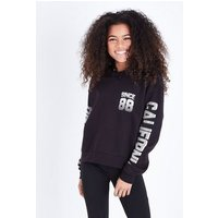 Teens Black Oakland Slogan Sleeve Print Hoodie New Look