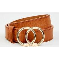 Tan Circle Trim Belt New Look