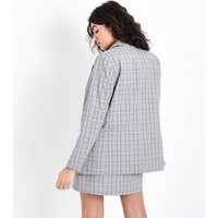 Light Grey Check Blazer New Look