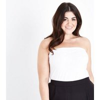 Curves White Longline Bandeau Top New Look