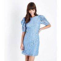 Blue-Vanilla-Pale-Blue-Lace-Puff-Sleeve-Dress-New-Look
