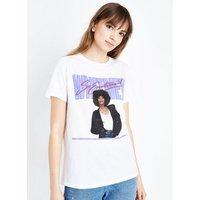 White 80's Whitney Houston T-Shirt New Look