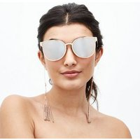 Rose Gold Tassel and Beaded Sunglasses Chain New Look
