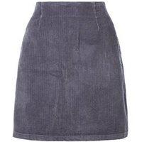 Grey Corduroy A-Line Mini Skirt New Look