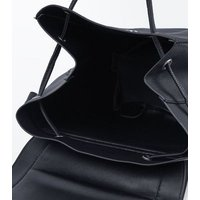 Black Ring Front Backpack New Look