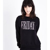 Black Friday Print Sweatshirt New Look