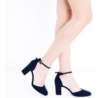 Wide Fit Navy Comfort Flex Two Part Courts New Look