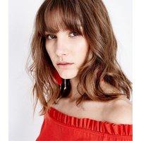 Red Frill Trim Bardot Neck Crop Top New Look