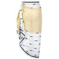 White and Yellow Patterned Beach Sarong New Look