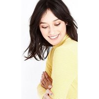 Yellow Stripe Funnel Neck Long Sleeve Top New Look