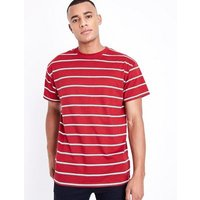 Red Stripe T-Shirt New Look