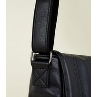 Black Leather-Look Messenger Bag New Look