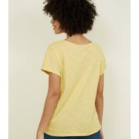 Tall Yellow Organic Cotton Pocket Front T-Shirt New Look