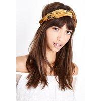 Multi Coloured Floral Print Velvet Headband New Look