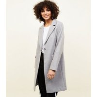 Grey Single Breasted Formal Coat New Look