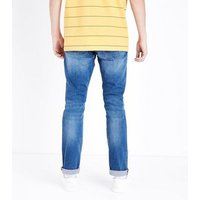 Bright Blue Indigo Wash Slim Fit Jeans New Look