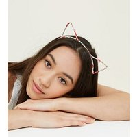 Multi Coloured Floral Wrap Print Cat Ears New Look
