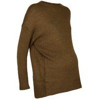 maternity-khaki-knitted-jumper-new-look