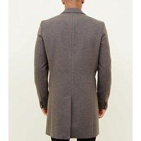 Grey Overcoat New Look
