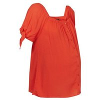 Maternity Red Square Neck Button Front Top New Look
