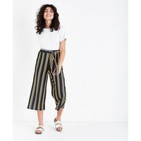 Cameo Rose Blue Stripe Culottes New Look