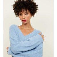 pale-blue-vneck-fluffy-jumper-new-look