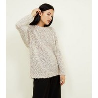 Camel Twist Yarn Oversized Jumper New Look