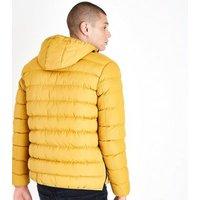 Yellow Overhead Puffer Jacket New Look