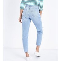Maternity Blue Ripped Under Bump Jeans New Look
